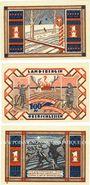 Banknotes Landsberg (Gorzow Slaski, Pologne), Stadt, billets, 100 pf (3ex) 24.5.1921