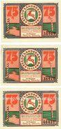 Banknotes Landsberg (Gorzow Slaski, Pologne), Stadt, billets, 75 pf (3ex) 20.3.1921