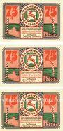 Banknotes Landsberg (Gorzow Slaski, Pologne), Stadt, billets, 75 pf (3ex) 24.5.1921