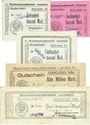 Banknotes Landstuhl, Bezirksamtsaußenstelle billets 100000, 200000, 500000, 1 million, 5 millions mk 13.8.1923