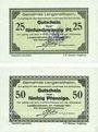 Banknotes Langenaltheim, Gemeinde, billet, 25 pf, 50 pf 27.2.1917