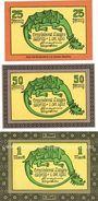 Banknotes Langenaltheim, Gemeinde, billets, 25 pf, 50 pf, 1 mark 1.10.1920