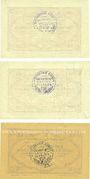 Banknotes Langenaltheim, Gemeinde, billets, 25 pf, 50 pf, 1 mark 27.2.1917