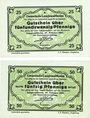 Banknotes Langenaltheim, Gemeinde, billets, 25 pf, 50 pf 27.2.1917, sans cachet au revers