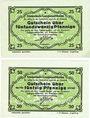 Banknotes Langenaltheim, Gemeinde, billets, 25 pf, 50 pf 27.2.1917