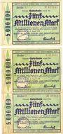 Banknotes Langendreer, Westfälische Eisen- und Drahtwerke A. G., billets, 5 millions mk 25.8.1923 séries A-C-D
