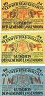 Banknotes Langenhorn, Gemeinde, série de 3 billets, 50 pf, 75 pf, 1 mark 1921 (1922)