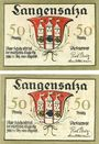 Banknotes Langensalza, Freiwillige Turner- Feurwehr, billets, 50 pf (2ex) n. d. - 31.12.1921