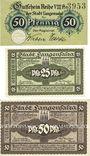 Banknotes Langensalza, Stadt, billets, 50 pf n.d., 25 pf, 50 pf 1920