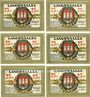 Banknotes Langensalza, Stadt, série de 6 billets, 25 pf 1921