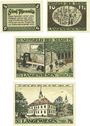 Banknotes Langewiesen, Stadt, billets, 5, 10, 25, 50 pf 1921