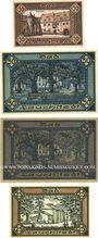 Banknotes Lauchstedt, Stadt, billets, 10 pf, 50 pf (2 ex) 1919, 25 pf 1921