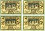 Banknotes Lauchstedt, Stadt, série de 4 billets, 50 pf (4ex) 1921