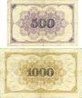 Banknotes Lauenburg a. d. Elbe, Sparkasse der Stadt, billets, 500 mark, 1000 mark 15.10.1922