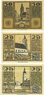 Banknotes Laufen-Tittmoning, Bezirksamt, billets, 50 pf, 25 pf (2ex) 1920