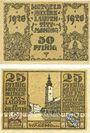 Banknotes Laufen-Tittmoning, Bezirksamt, billets, 50 pf, 25 pf