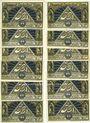 Banknotes Lautenthal i. Harz, Stadt, série de 12 billets, 50 pf (12ex)