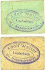 Banknotes Lauterbach (Gomorow, Pologne), Adolf Walter, Gasthaus, 25 pf, 50 pf (1918)