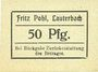 Banknotes Lauterbach (Gomorow, Pologne), Fritz Pohl, billet, 50 pf (1918?)
