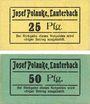 Banknotes Lauterbach (Gomorow, Pologne), Josef Polavke, billets, 25 pf, 50 pf (1918