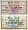 Banknotes Lauterecken, Stadt, billets, 1 million mark, 5 millions mark n.d. - 25.9.1923
