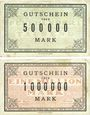 Banknotes Lauterecken, Stadt, billets, 500 000, 1 million mark 15.8.1923