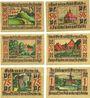 Banknotes Leer, Verein für Heimatschutz, billets, 25 pf, 50 pf (2ex), 75 pf (2ex), 1 mark oct 1921