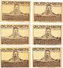Banknotes Leipzig-Land, Notgeld-Ausstellung, série de 6 billets, 25 pf (2ex), 50 pf (4ex) 27.8.1921