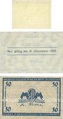 Banknotes Leipzig-Land, Stadt, bilelts, 10 pf n.d. - 31.12.1918, 50 n.d. - 31.12.1919, 50 pf n.d. - 31.12.1920