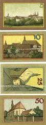 Banknotes Leobschütz (Glubczyce, Pologne), Stadt, série de 4 billets, 5 pf, 10 pf, 25 pf, 50 pf n.d.