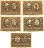 Banknotes Leobschütz (Glubczyce, Pologne), Stadt, série de 5 billets, 5 pf, 10 pf, 25 pf, 50 pf, 75 pf  n.d.