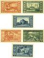Banknotes Leopoldshall, Stadt, 2 séries de 3 billets, 25 pf, 50 pf, 75 pf 25.7.1921, 3e et 4e série
