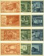 Banknotes Leopoldshall, Stadt, 4 séries de 3 billets, 25 pf, 50 pf, 75 pf 25.7.1921