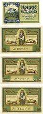 Banknotes Leutenberg, Stadt,  billets, 25 pf, 50 pf 1921, 50 pf 1921-31.8.1922, 50 pf 1921-30.9.1922