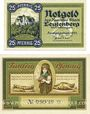 Banknotes Leutenberg, Stadt, série de 2 billets, 25 pf, 50 pf 1921
