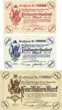 Banknotes Leverkusen, Farbenfabriken vorm.Friedr.Bayer & Co, billets, 100000, 500000, 1 million mark 1.8.1923