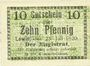 Banknotes Lewin (Pologne), Stadt, billet, 10 pf 23.7.1920