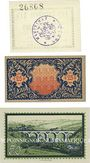 Banknotes Lewin (Pologne), Stadt, billets, 10 pf 23.7.1920, 25 pf, 50 pf 31.7.1920
