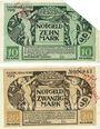 Banknotes Lichtenfels a. Main, Distriktsgemeinde, billets, 10 mk, 20 mk 8.11.1918, annulation...