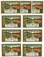 Banknotes Lichtenhorst, Kriegsgefangenenlager Kantine H. Heyer, billets, 25 3ex, 50 2ex, 75 pf 2ex, 1 mk 2ex