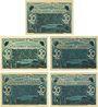 Banknotes Lichtenstein-Callnberg, Stadt, série de 5 biilets, 50 pf 1.4.1921 (5ex)