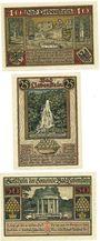 Banknotes Liebenstein, Bad, Gemeinde, série de 3 billets, 10 pf, 25 pf, 50 pf (1921)