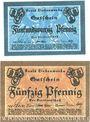 Banknotes Liebenwerda, Kreis, billets, 10 pf, 50 pf (1920)