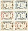 Banknotes Liebenwerda, Kreis, série de 6 billets, 50 pf 1.10.1921 (6ex)