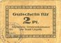 Banknotes Liegnitz (Legnica, Pologne), Allgemeine Ortskrankenkasse, billet, 2 pf, carton brun clair