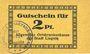 Banknotes Liegnitz (Legnica, Pologne), Allgemeine Ortskrankenkasse, billet, 2 pf, carton brun jaune