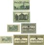 Banknotes Liegnitz (Legnica, Pologne), Stadt, billet, 50 pf nd, 50 pf (1920), 10, 25 pf (1920), 10, 25 pf (2ex