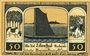 Banknotes Lilienthal, Sparkasse, billet, 50 pf 15.3.1921, série E