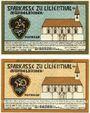 Banknotes Lilienthal, Sparkasse, série de 2 billets, 25 pf, 50 pf 1.3.1921, série D