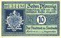Banknotes Limbach, Stadt, billet, 10 pf n.d. - 31.12.1919